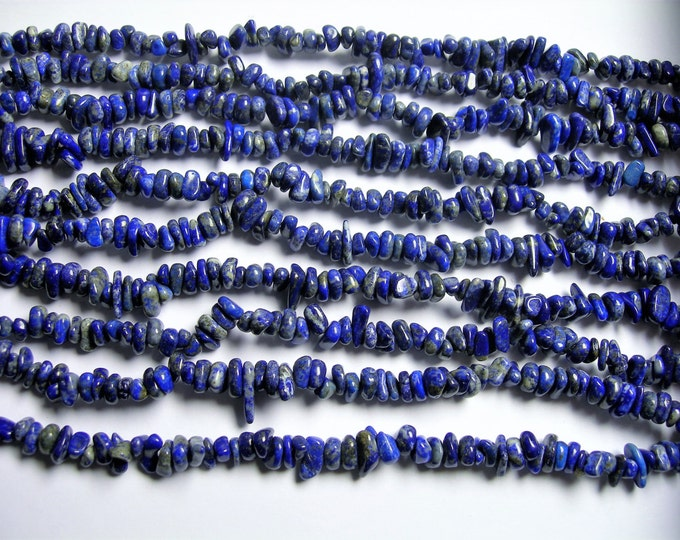 Lapis lazuli - bead - full 34 inch strand - Rondelle chip stone - 6 mm -  A quality - PSC326