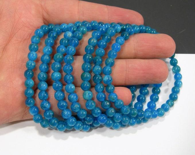 Apaptite - 6mm round beads - 32 beads - 1 set - A Quality - HSG166