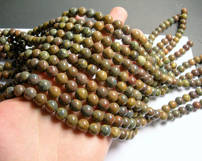 Wealth stone Jasper - 10 mm round beads - 1 full strand - 40 beads - A quality - RFG1303