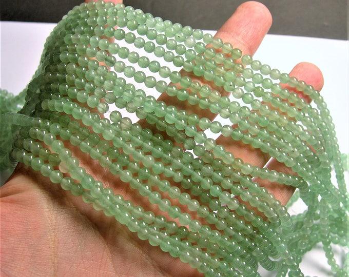 Green Aventurine - 4mm round beads -1 full strand - AA Quality - 97 beads - RFG1428A