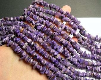 Charoite Gemstone  - chip stone beads  - 16 inch strand - 10mm - PSC397