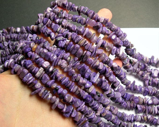 Charoite Gemstone  - chip stone beads  - 16 inch strand - 10mm - PSC397