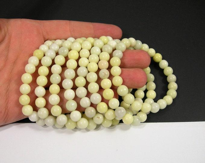 Irovy Lemon Jasper - 8mm round beads - 23 beads - 1 set - A quality  - HSG164