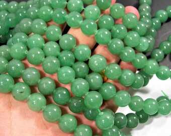 Aventurine - 12 mm round beads -1 full strand - 33  beads - AA quality - RFG974
