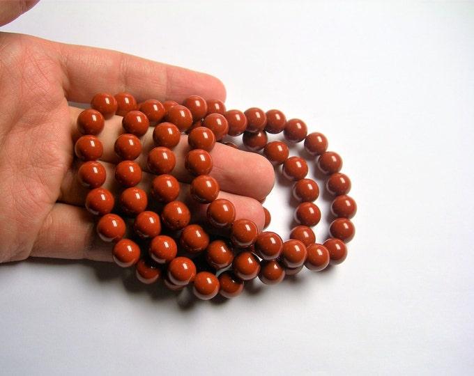 Red Jasper - 1 set - 10mm  - 19 beads - AA quality - Red Jasper - HSG54