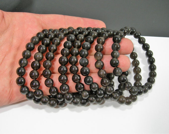 Ice Obsidian - 8mm round beads - 23 beads - 1 set - A quality  - HSG167