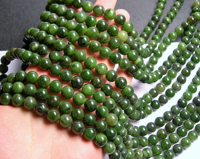 Jade nephrite BC - 10 mm round beads - full strand - 40 beads  - RFG880