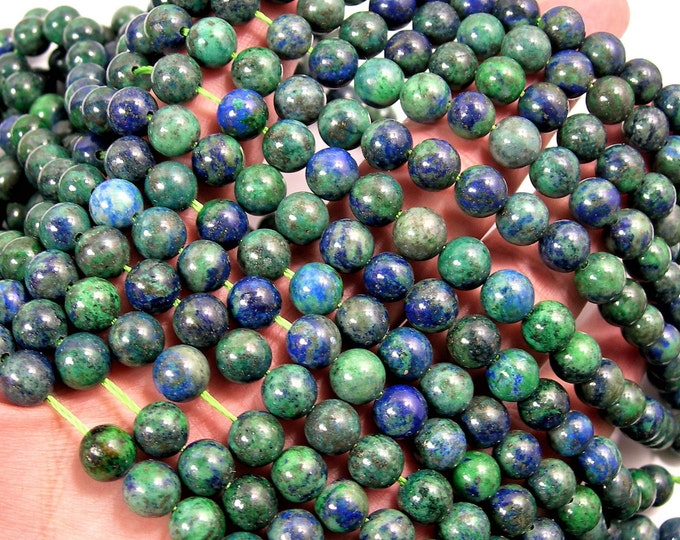 Azurite - 8mm round beads -1 full strand - 48 beads - WHOLESALE DEAL - RFG42