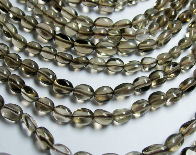 Smoky quartz - pebble - nugget - 1 full strand  -  PSC90