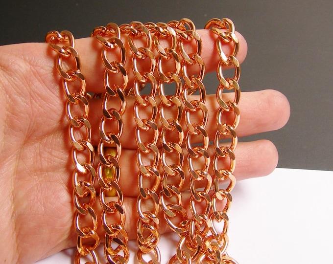 Copper chain - lead free nickel free won't tarnish - 1 meter-3.3 feet - aluminum chain - curb chain