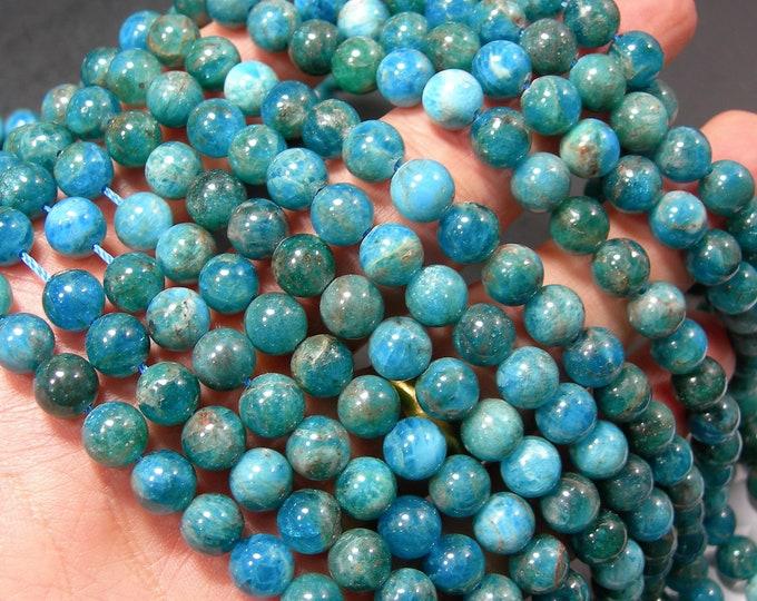 Blue Apatite - 8mm(7.8mm) round beads - Full strand - 50 beads - Apatite -  RFG2276