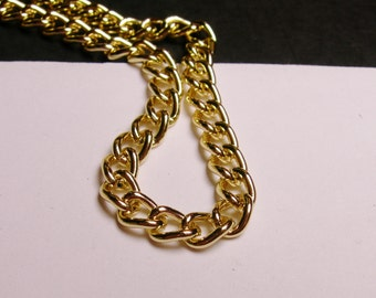Gold chain - lead free nickel free won't tarnish - 1 meter - 3,3 feet - aluminum chain  -  NTAC11