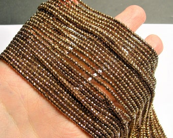 Hematite Copper Bronze - 2.5mmx2mm faceted rondelle beads - full strand - 190 beads - A quality - PHG269