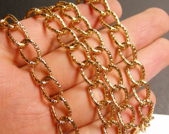 Copper chain - lead free nickel free won't tarnish - 1 meter - 3.3 feet - aluminum chain - etching -  NTAC84