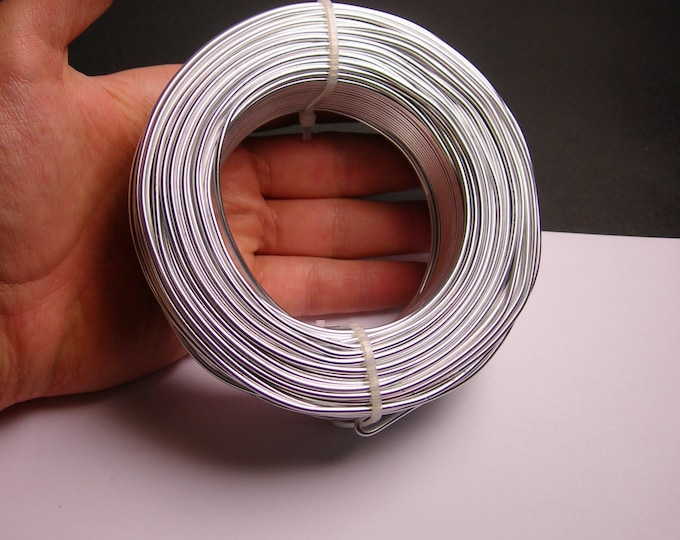Aluminum wire 12 gauge-  2mm - 164 foot  roll - good quality -  silver color - 50 meters