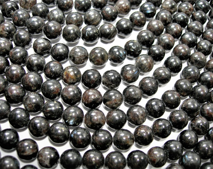 Astrophyllite - 8 mm round - A quality - 48 beads per strand -  full strand - very rare -  RFG1683