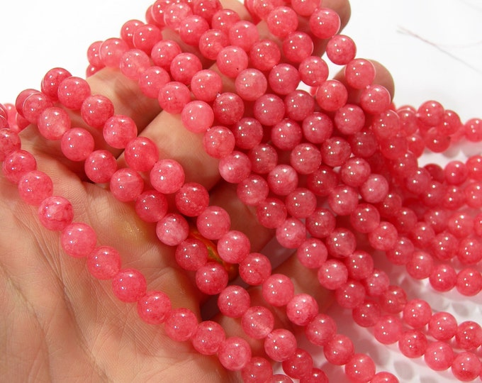 Cherry sponge quartz - 8 mm round beads - full strand - 48 beads - A quality - RFG2284