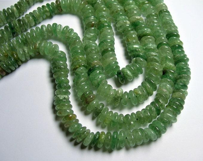 Green Strawberry quartz - 12mm - rounded pebble beads - Green lepidocrocite - full strand - PSC406