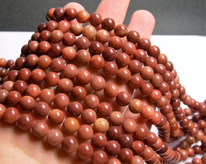 African Blood Jasper - 10 mm round beads - full strand - 40 beads - A quality - RFG1039