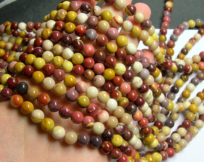Mookaite - 8mm round - 1 full strand - 48 beads - A quality - RFG824