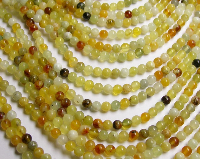New Jade 4 mm round - A quality - 94 beads per strand - full strand - WHOLESALE DEAL - RF143