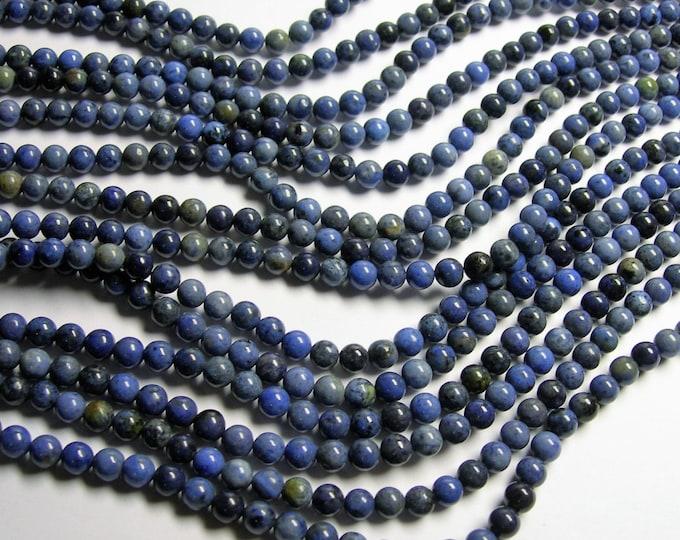 Dumortierite - 6 mm round beads - full strand - 65 beads - Light tone Dumortierite - RFG1049