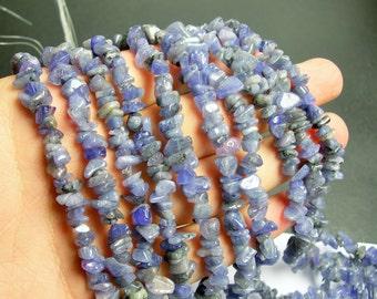 Tanzanite gemstone - chip stone bead - 36 inch strand - genuine Blue tanzanite gemstone - PSC18