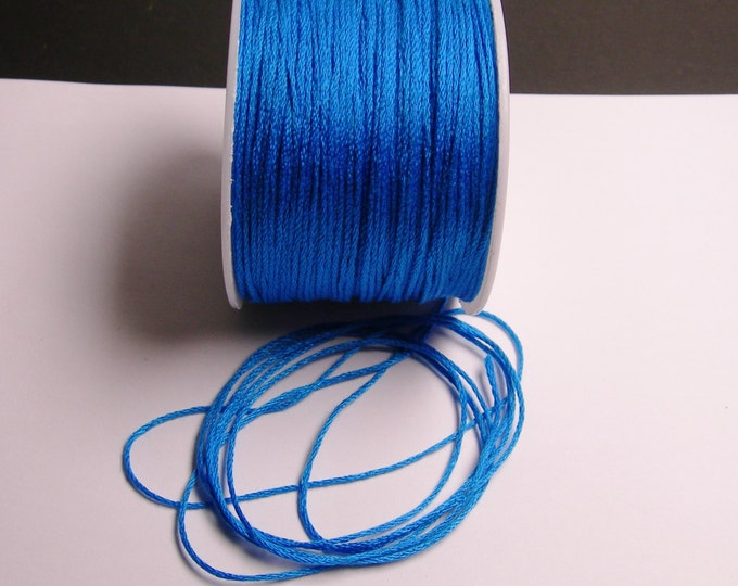 Cotton Cord - knotting - embroidery cord - 1mm - 120 meter - 390 foot - blue - CTN15