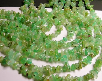 Chrysoprase - bead - full 16 inch strand - pebble - chip stone - AA quality - chrysophrase - NRG58
