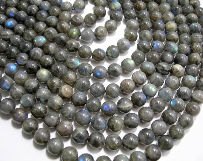 Labradorite - 10 mm beads - 1 full strand - A QUALITY - 40 beads - RFG899