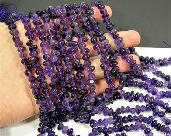 Amethyst - pebble - nugget - full strand 70 beads -  RFG1799