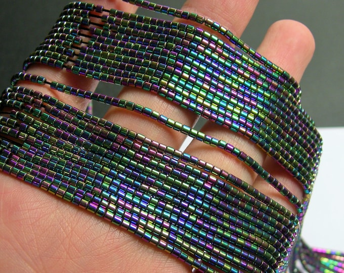 Hematite Rainbow - 2mm heishi  beads - 1 full strand - 195 beads - AA quality - PHG248