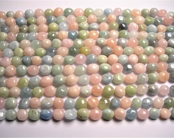 Beryl mix  - nugget  - 16 inch strand - Morganite - aquamarine - heliodor - Rounded nugget  PSC388