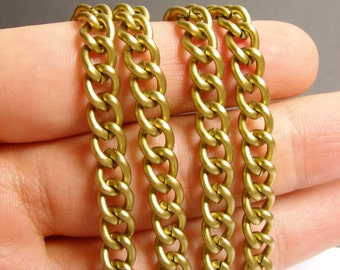 Brass chain  - 1 meter - 3.3 feet - aluminum chain - twisted cable chain -  NTAC111