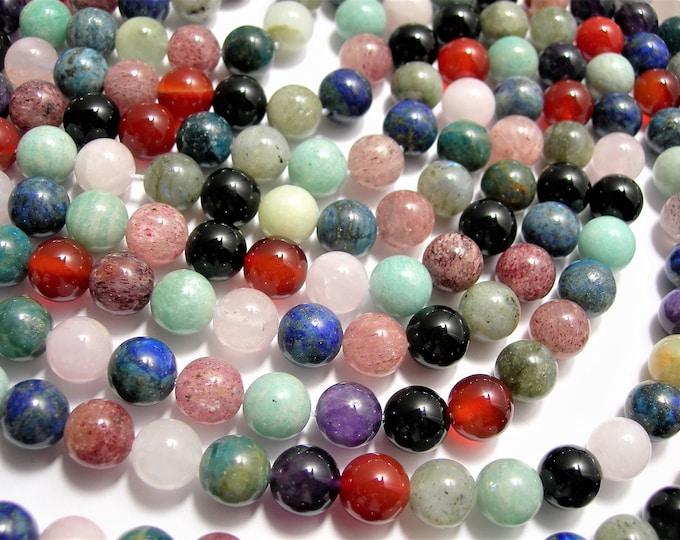 Gemstone mix - 10mm round beads - full strand - 39 beads - A quality - multi gemstone mix - RFG1562