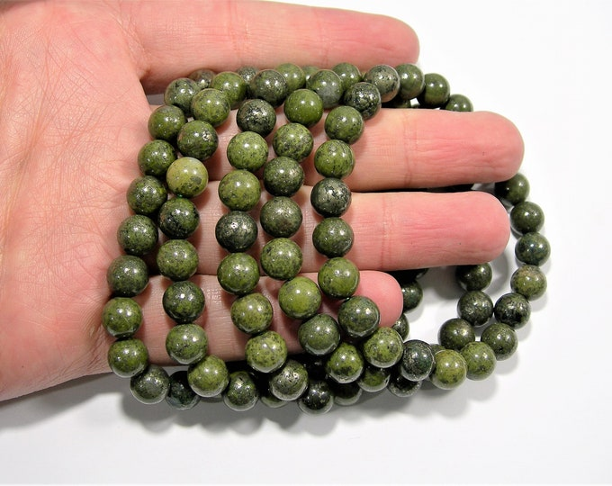 Epidote - 1 set - 8mm - 23 beads - A quality - HSG135