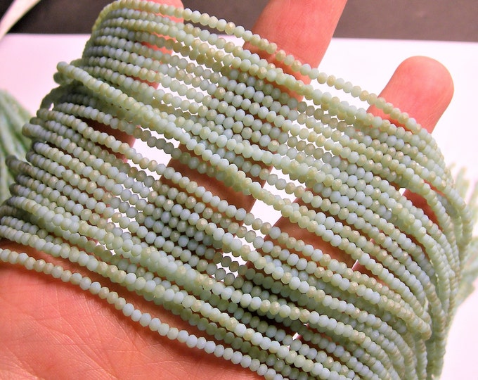 Crystal - rondelle faceted 3mm x  2mm beads - 196 beads - AA quality - light amazon dual tone - CAA2G167