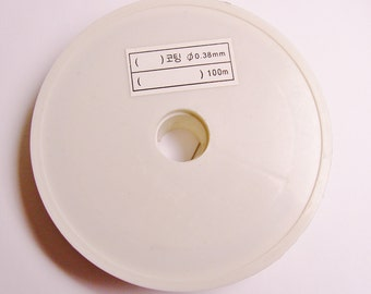 tiger tail wire - beading wire - 100 meters or 328 foot -  0.38 mm