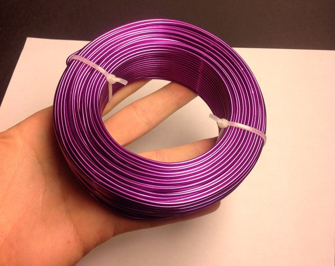 Aluminum wire 12 gauge-  2mm - 164 foot  roll - good quality - purple - 50 meters - BRA6