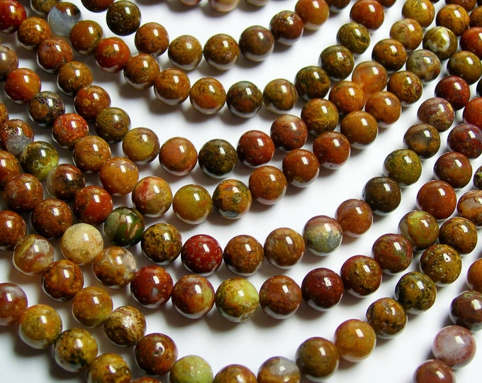 Agua nueva agate - 8mm round beads -  full strand - 50 beads - RFG889