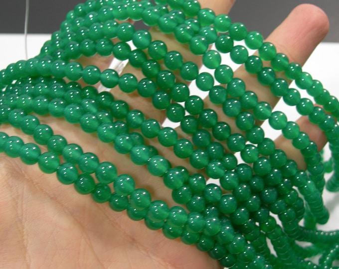 Green Onyx - 6 mm round beads - full strand - 63 beads - AA quality - Green onyx agate - RFG1765