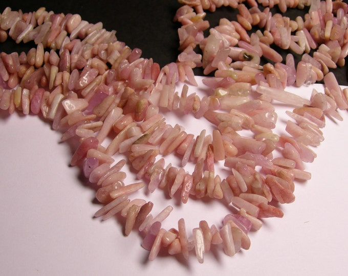 Kunzite Gemstone - stick - pebble-  nugget - chip stone -  bead  -full strand - Genuine KUNZITE - NRG79