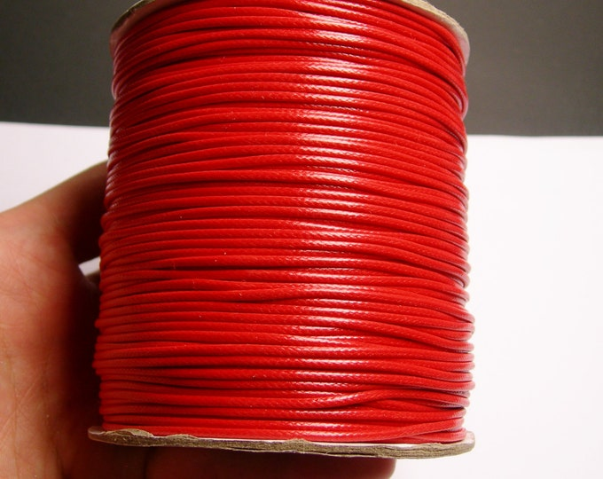 Polyester wax cord - 1.5mm - high quality - 160 meter - 524 foot - red - full roll - PECM8