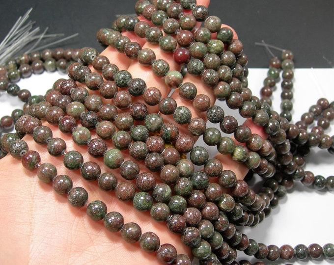 Kashgar Garnet - 8mm round bead - 50 beads - full strand -  RFG2281