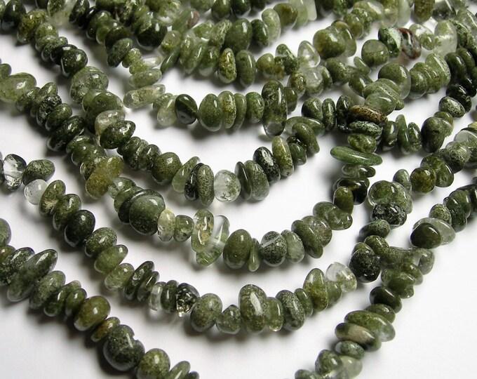 Lodolite - 36 inch full strand - pebble - chip stone - PSC283