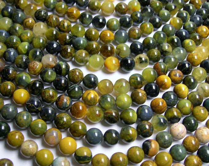 Golden Pietersite - 8mm round bead - A quality - 50 beads - full strand - RFG287