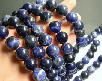 Sodalite - 16 mm round beads -1 full strand - 25 beads - A quality - RFG797