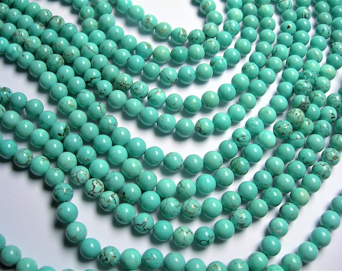 Howlite turquoise - 8mm(8.3mm) beads -  full strand - 47 pcs - A Quality - RFG1411