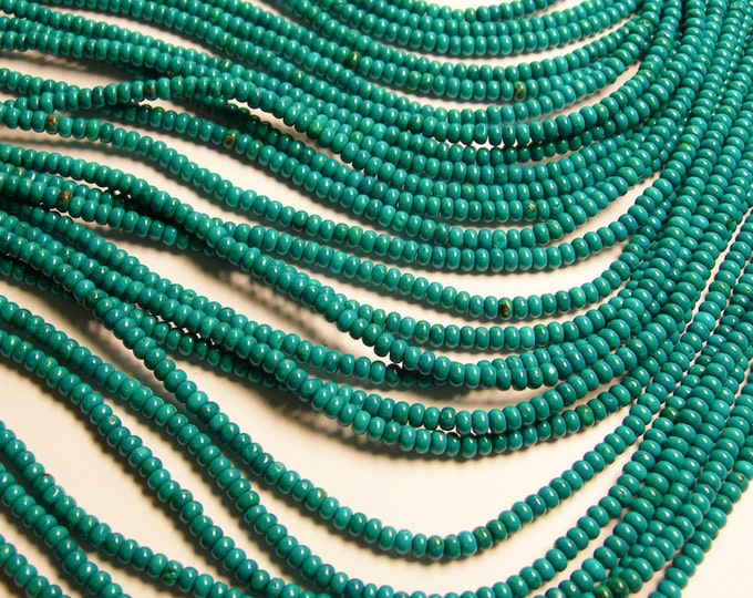 Howlite turquoise - 4mmx2mm Rondelle beads - 1 full strand - 150 pcs - AA quality - RFG188