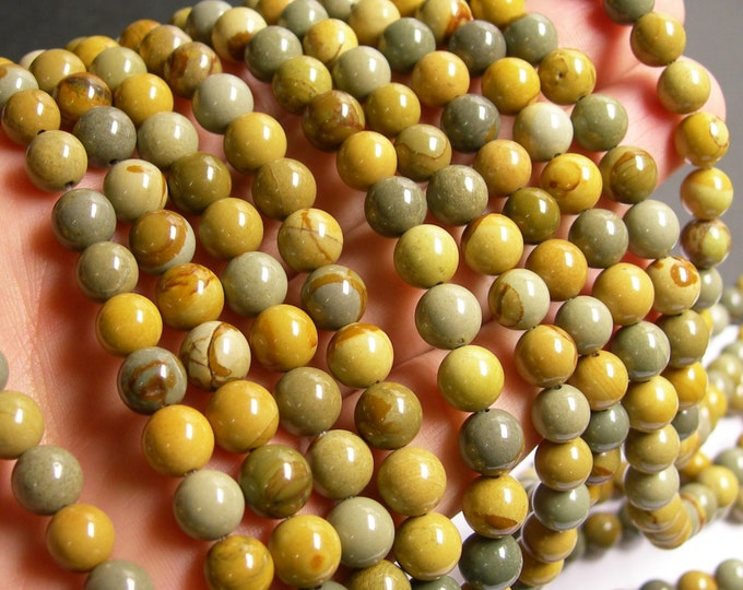 Wild horse Picture Jasper - 8 mm round beads - full strand - 40 beads - AA quality - RFG431